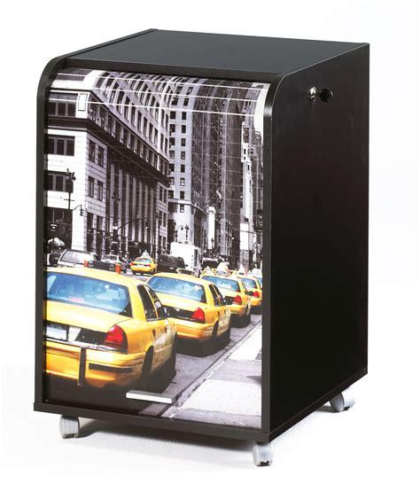 le de bureau york caisson de bureau à rideau design noir york soldes