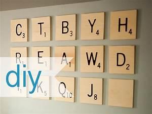 Large scrabble letters wall decor : Diy scrabble wall art