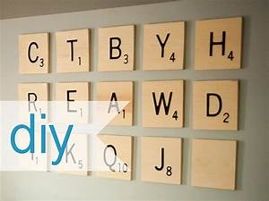 Diy scrabble wall art diy wall art pinterest for Large scrabble letters wall decor
