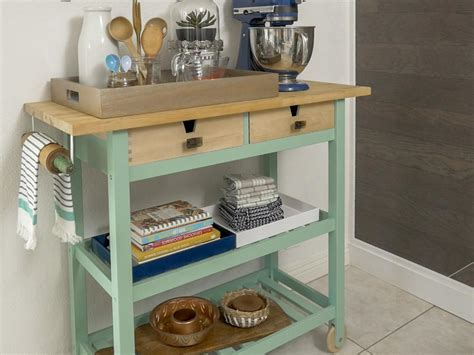 rolling kitchen island cart ikea how to trick out a rolling kitchen cart hgtv 7799
