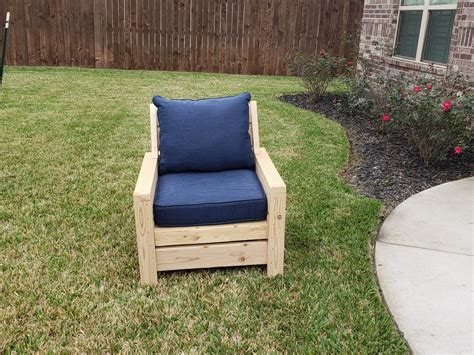 ana white modern outdoor  chair  modification