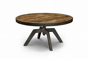 Table Basse Industrielle En Bois Et Mtal TB03 Rose