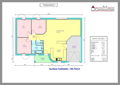 plan maison 3 chambres plain pied garage plan de maison constructeur charente maritime
