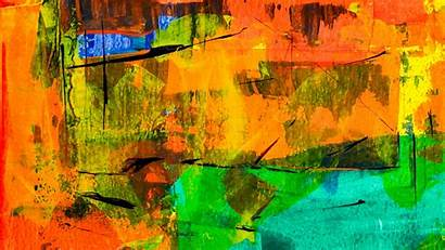 Abstract Painting Colorful Orange Theme 4k Background