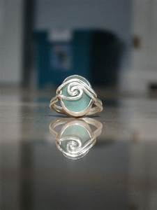 sea glass engagment ring martha made by meg jewelry With glass wedding ring