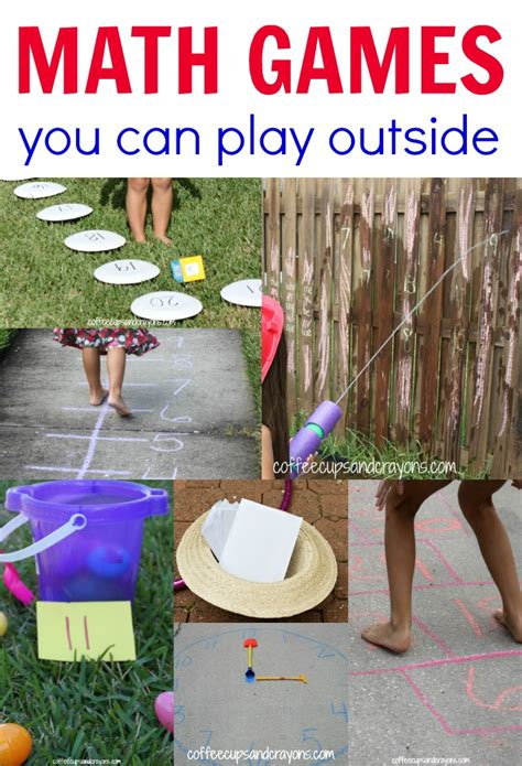 Outdoor Math Games For Kids  Coffee Cups And Crayons