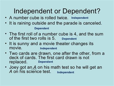 128 Independent And Dependent Events 1