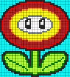 Fire Flower Perler Bead Patterns