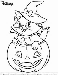 Halloween Disney Coloring Picture