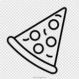 Pizza Drawing Pepperoni Coloring Clipart Cheese Background Transparent Posters Drawings Hiclipart Paintingvalley sketch template