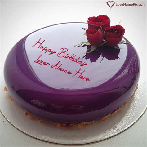 purple marble birthday cake  lover  generator