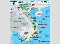 Geography of Vietnam, Landforms World Atlas