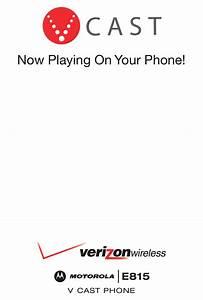 Motorola E815 User Manual Pdf Download