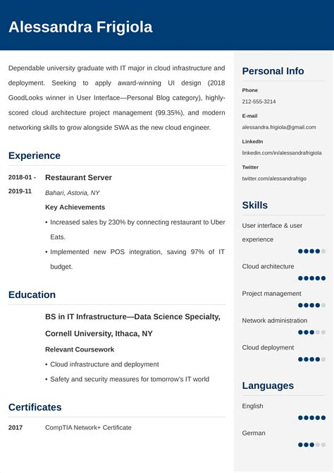 How to write a good cv? Entry Level Resume Examples, Template & Tips