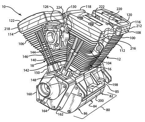V Engine Diagram by Patent Us7134407 V Engine And Method Of