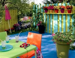 idees deco pour un balcon ou une terrasse intime With awesome idee pour jardin exterieur 11 deco appartement peinture