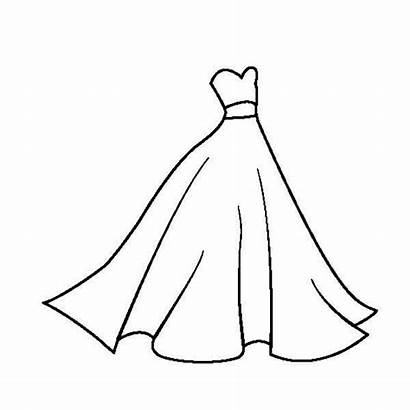 Coloring Pages Dresses Adults Easy Outline Printable