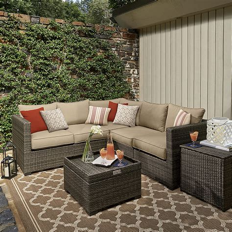 grand resort patio furniture grand resort monterey pc sectional set neutral outdoor