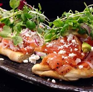 Flatbread sushi pizza. Spicy tuna,crab,peppered salmon ...