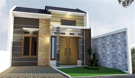 rumah minimalis satu lantai tampak depan  desain rumah