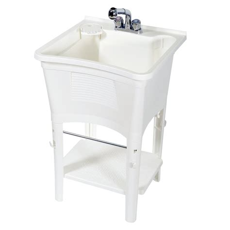 utility sink faucet lowes zenith lt2006w white polypropylene utility tub lowe 39 s canada