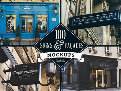 Facades Signs Mockups Facade Sign Dribbble Brand