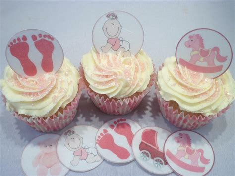 edible baby shower cake decorations its a baby shower edible cupcake toppers cake