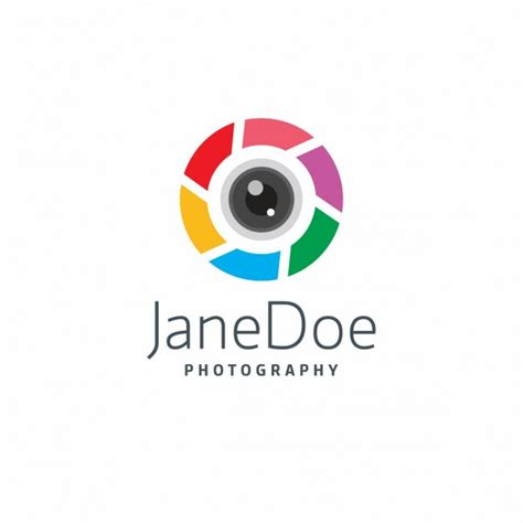 colorful photography logo vector