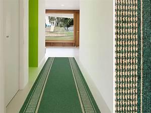 Teppich Flur Läufer : teppich l ufer gr n gemustert promenade ~ Lateststills.com Haus und Dekorationen