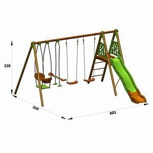 Balancoire Bois Toboggan : balancoire en bois avec toboggan top balancoire portique ~ Premium-room.com Idées de Décoration