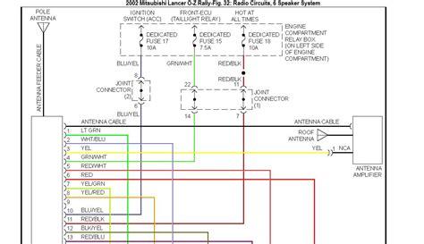 2014 mitsubishi lancer radio wiring diagram sle