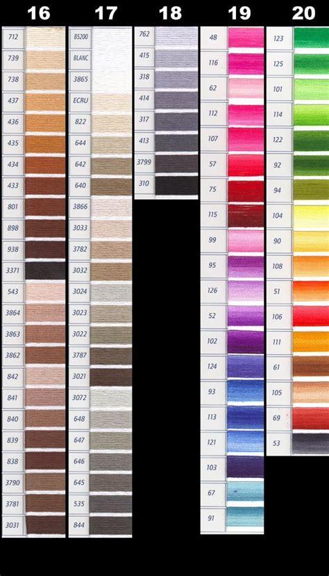 dmc color chart pdf untitled 1 yarntree