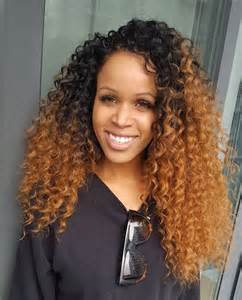 Crochet Braids Curly Hair Ombre