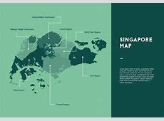 Green Singapore Map Vector Download Free Vector Art