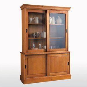 buffet vaisselier en pin massif portes coulissantes With charming meubles en pin massif cire 8 meubles la redoute buffet vaisselier authentic style en