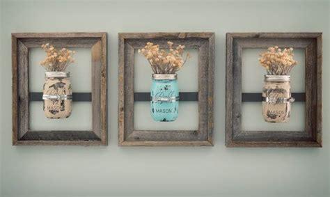 bathroom wall decor 8 x 10 jar frames with painted jars jars Rustic