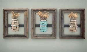 mason jar diy bathroom wall decor alinea designs With best brand of paint for kitchen cabinets with mason jar wall art