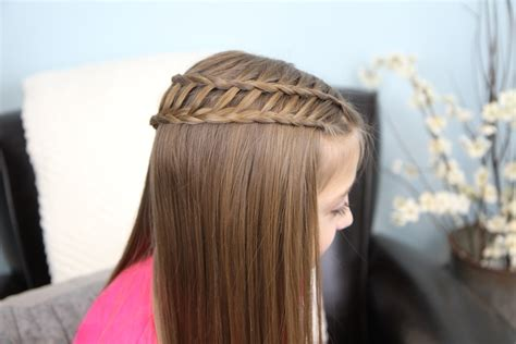 feather waterfall ladder braid combo 2 in 1 hairstyles