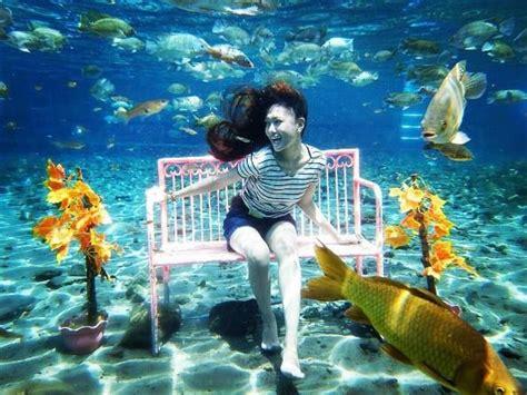 wisata hits snorkeling  umbul ponggok klaten
