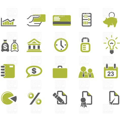 free business clipart banks and business icons set vector image vector artwork