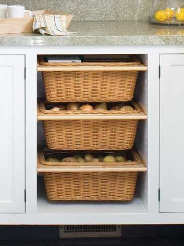 pull out baskets kitchen cabinets savvy ways to food in your kitchen organization 7596