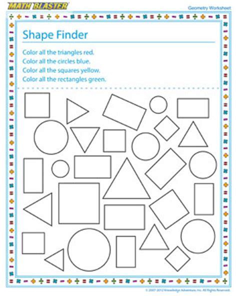 shape finder printable geometry worksheets  st grade