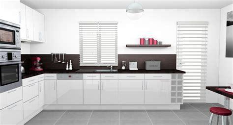 cuisines rouges decoration cuisine moderne blanche cuisine laquee