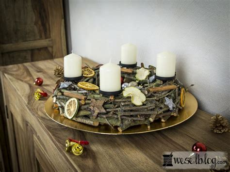 Diy Adventskranz Aus Holz