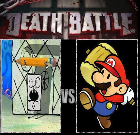Doodle Bob Meme - doodlebob vs paper mario by keyblademagicdan on deviantart