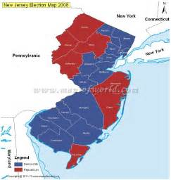 2016 Election Map County New Jersey