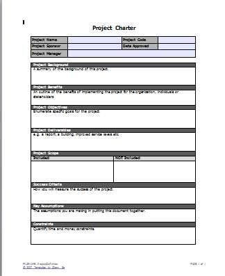 Project Charter Pmp Template by Best Photos Of Project Charter Forms Project Management