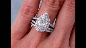 15 photo of pear shaped engagement rings with wedding bands With wedding bands for pear shaped engagement rings