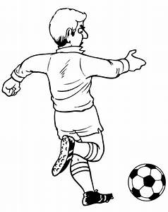 Soccer Player Kicking Ball Coloring Page Coloring Pages