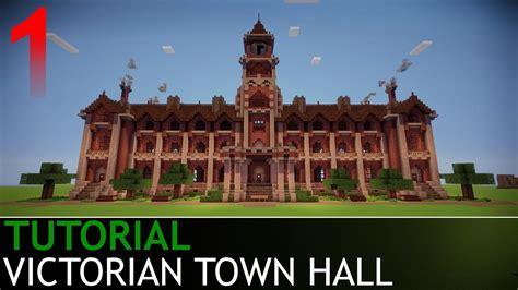 minecraft   build  victorian town hall part  youtube